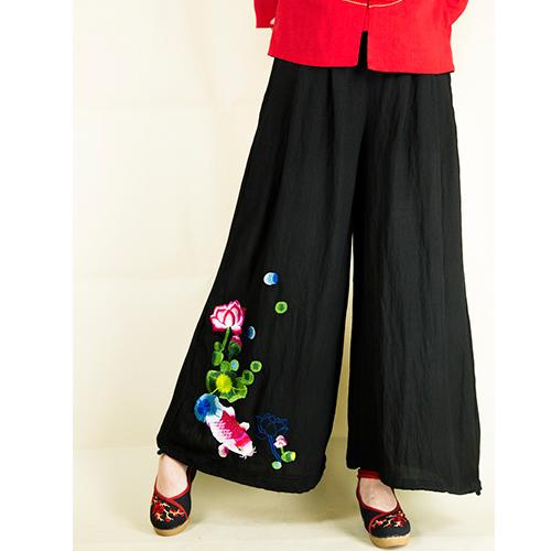 电脑绣花 裤子